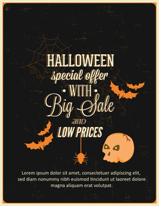 Halloween Vector Illustration (editable Text)