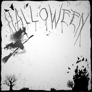Halloween Vintage Poster Template. Vector.