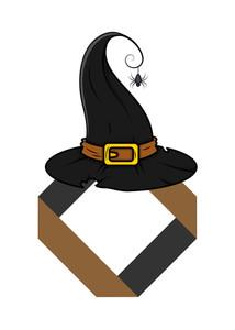 Halloween Witch Hat Banner