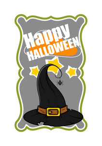 Halloween Witch Hat Vector Banner