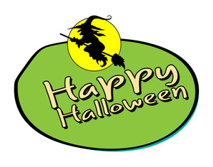 Halloween Witch Shape Banner