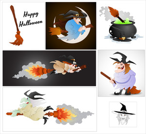 Halloween Witch Vectors