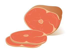 Ham. Vector Illustration.