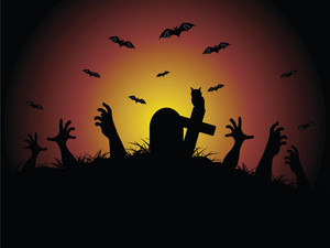 Hand Coming Out In The Graveyard