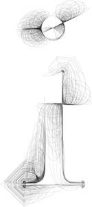 Hand Draw Font. Letter I. Vector Illustration
