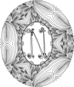 Hand Draw Font. Letter N. Vector Illustration