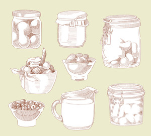 Hand Drawn Food Ingredients