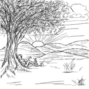 Hand Drawn Landscape