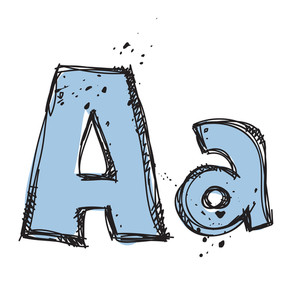 Hand Drawn Letter A. Vector Illustration