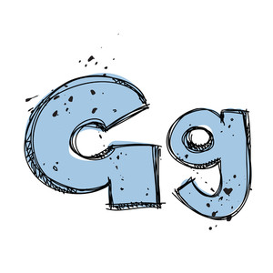 Hand Drawn Letter G. Vector Illustration