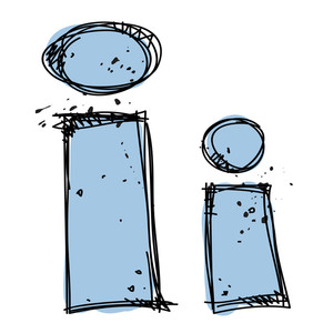 Hand Drawn Letter I. Vector Illustration