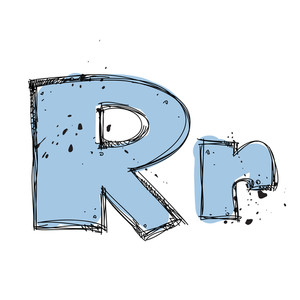 Hand Drawn Letter R. Vector Illustration