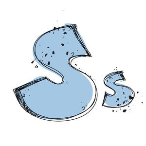 Hand Drawn Letter S. Vector Illustration