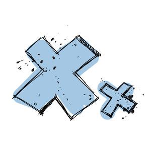 Hand Drawn Letter X. Vector Illustration