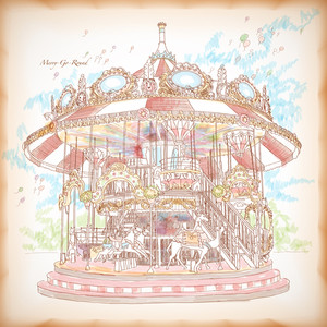 Hand Drawn Merry-go-round