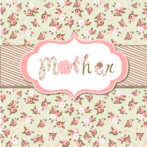 "Hand Drawn Vector Floral Frame With A Word ""mother"". Great Mother's Day Card"