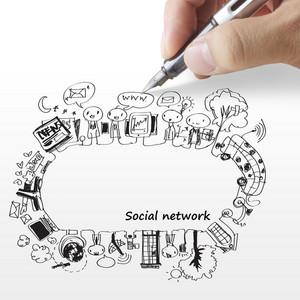 Hand Draws A Social Network