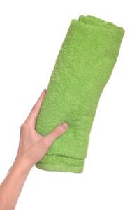 Hand Holding Beach Towel