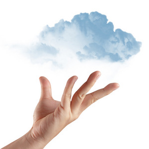 Hand Holding Cloud In Sky 2