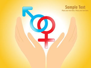 Hand Holding Male And Female Symbol