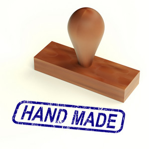 Hand Made Rubber Stamp Shows Handmade Products