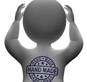 Hand Made Stamp On Man Shows Original Handmade