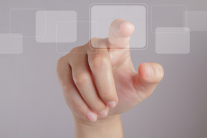 Hand Point On Touch Screen Interface