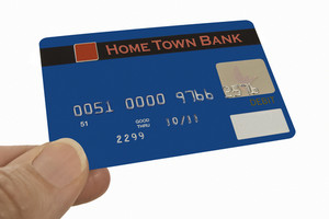 Hand Presenting Debit Card
