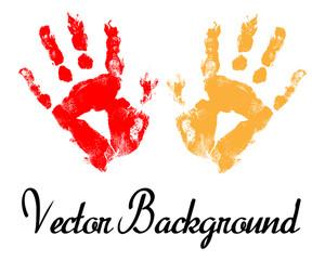 Hand Prints Vector Background