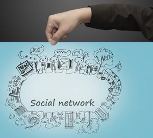 Hand Pulls Social Network