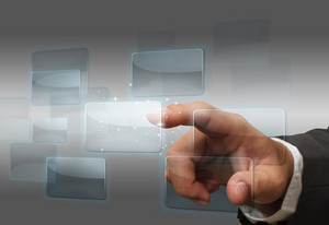 Hand Pushing Touch Screen Interface