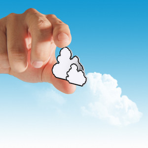 Hand With Cloud Computing Concep