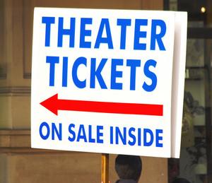 Handheld Sign For Theater Tickets