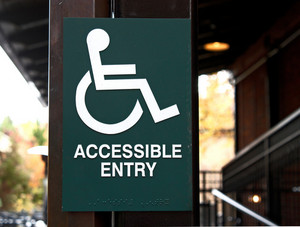 Handicap Access Signboard