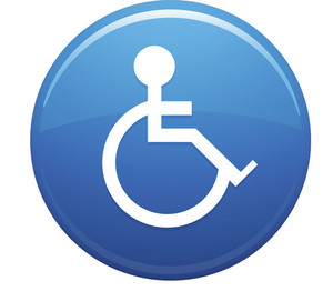 Handicap Blue Circle