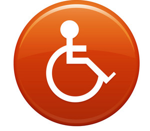 Handicap Orange Circle