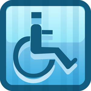 Handicapped Blue Tiny App Icon
