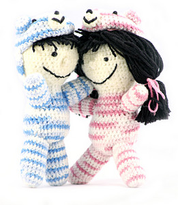 Handmade Crochet Dolls With Teddy Bear Hats