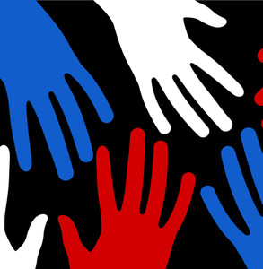 Hands 4th Of July Vector Theme Design