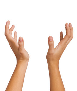 Hands Of A Woman Catching