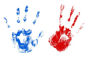 Hands Usa Independence Day Vector Theme Design
