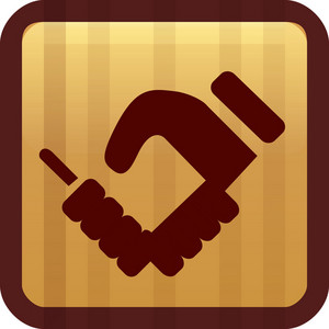 Handshake Brown Tiny App Icon