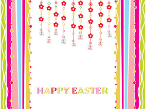 Hanging Flower With Easter Background