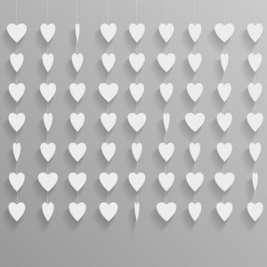 Hanging Paper Hearts