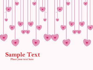 Hanging Pink Heart Shape Illustration