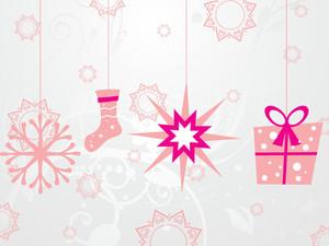 Hanging Xmas Icons Background