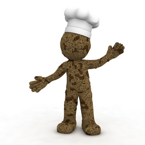 Happy 3d Baker Textured As Chocolate Cookie