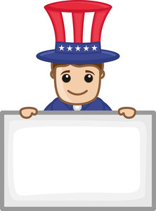 Happy 4th Of July - Business Cartoon Characters