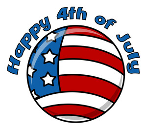 Happy 4th Of July Circular Icon