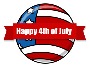 Happy 4th Of July Design Icon